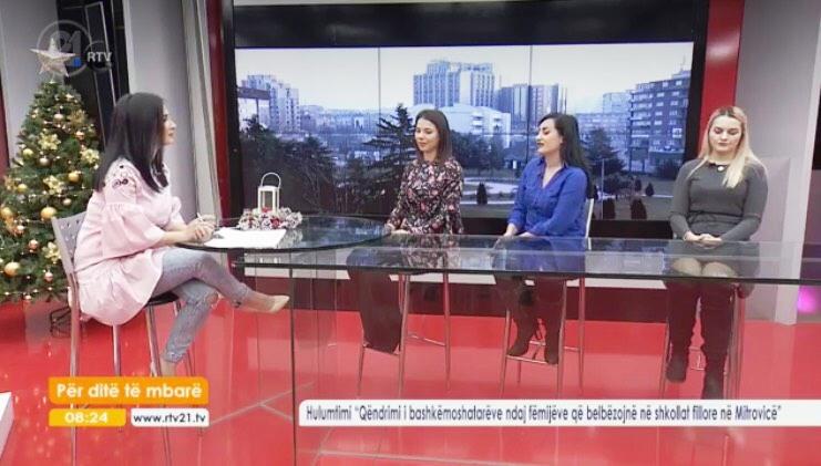 """Studentët e UMIB prezantojnë gjetjet e hulumtimit në emisionin """"për ditë të mbarë – RTV21"""""""