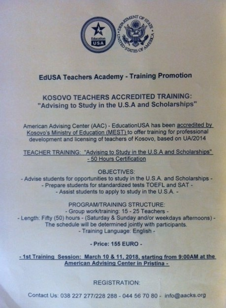 EdUSA Teacher Academy – Training Promotion
