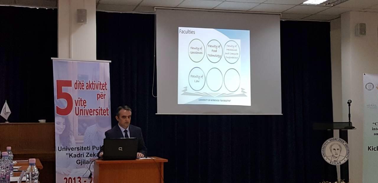 """Rektori Musaj dhe prorektori Zeqiri morën pjesë në hapjen e projektit të """"HERAS"""""""