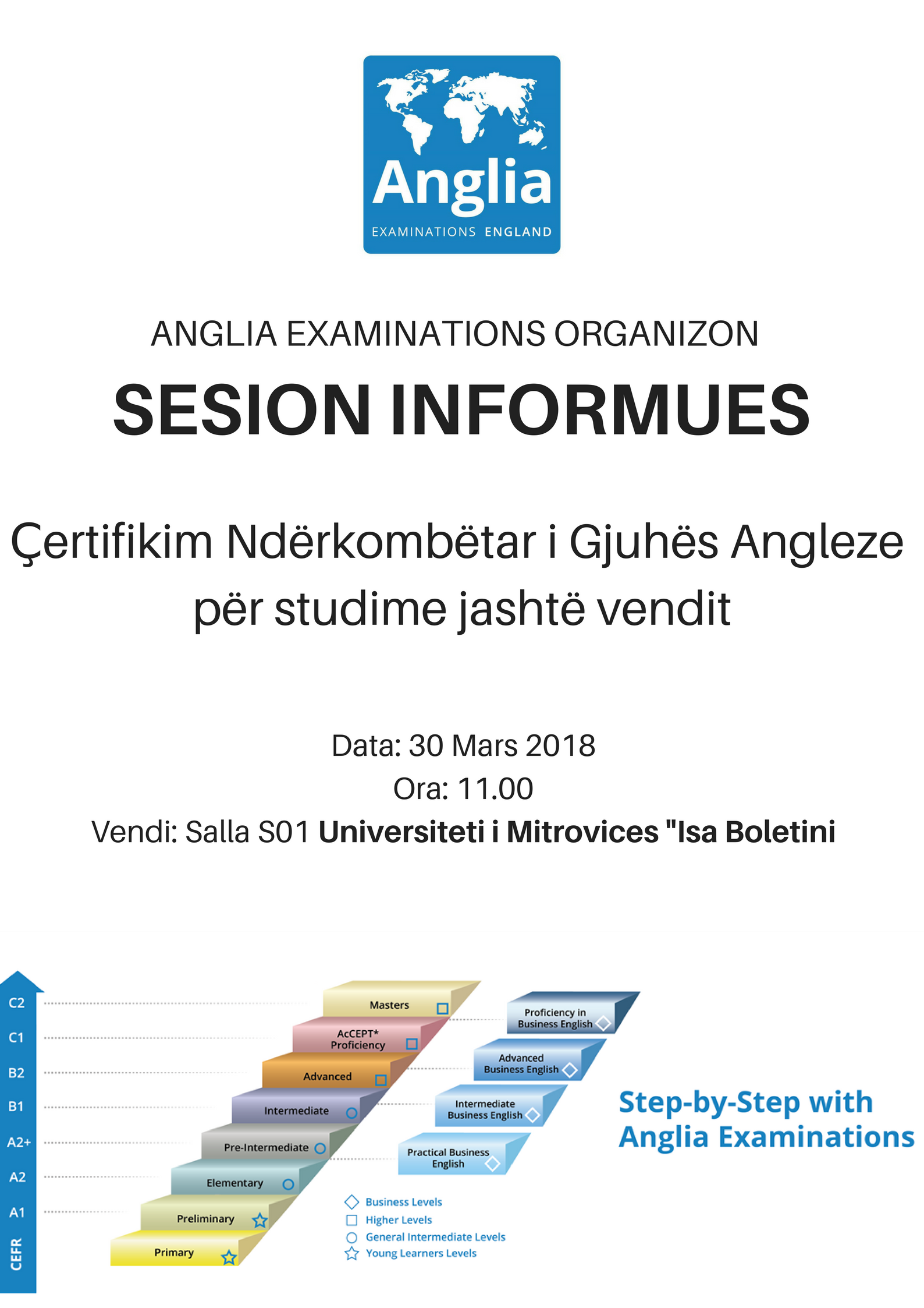 Sesion informues për certifikim të gjuhës angelze