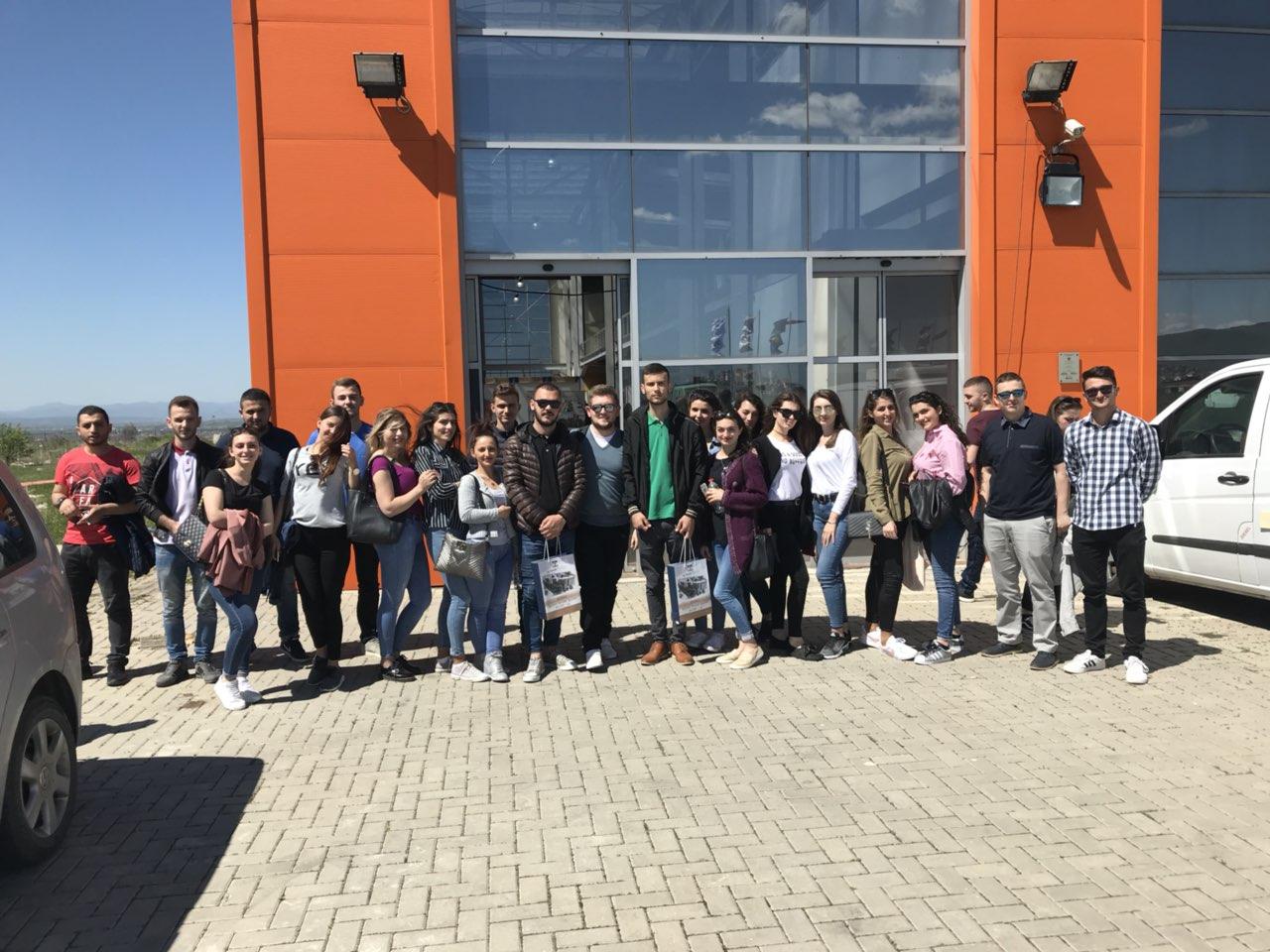 """Një grup studentësh vizituan panairin """"Prishtina 2018″"""
