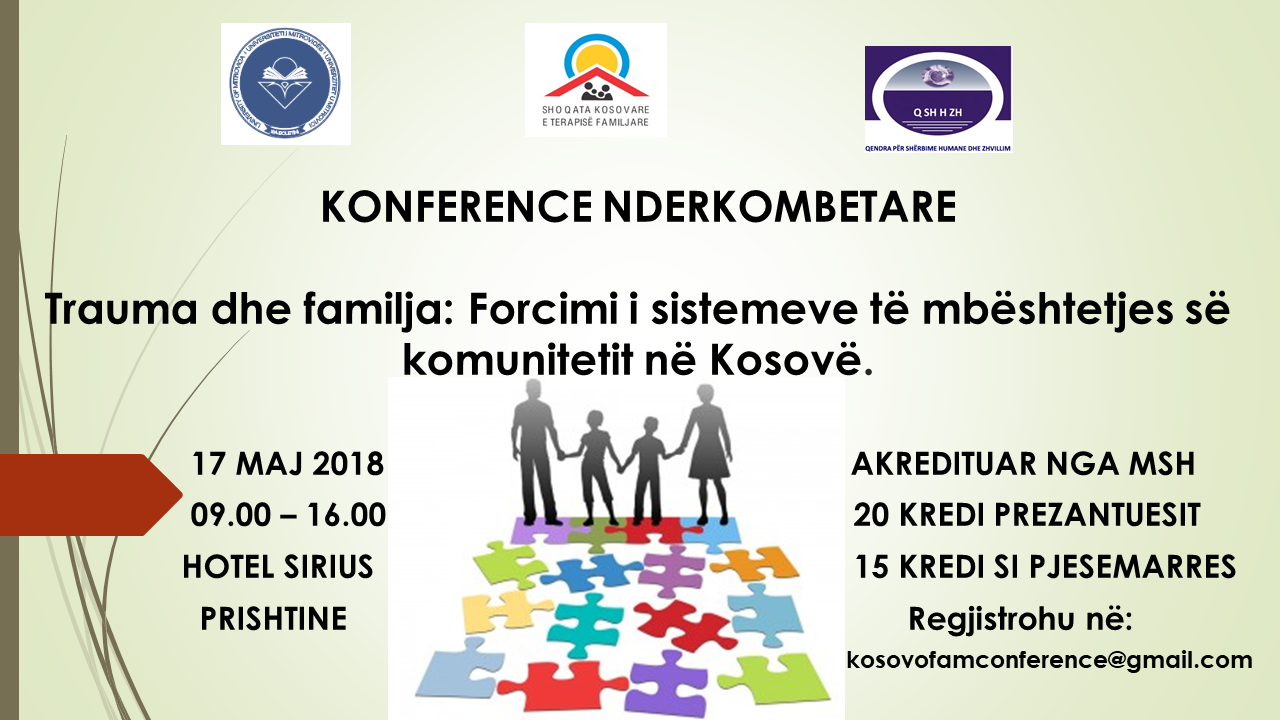 """Konferencë ndërkombëtare """"Trauma dhe familja"""""""