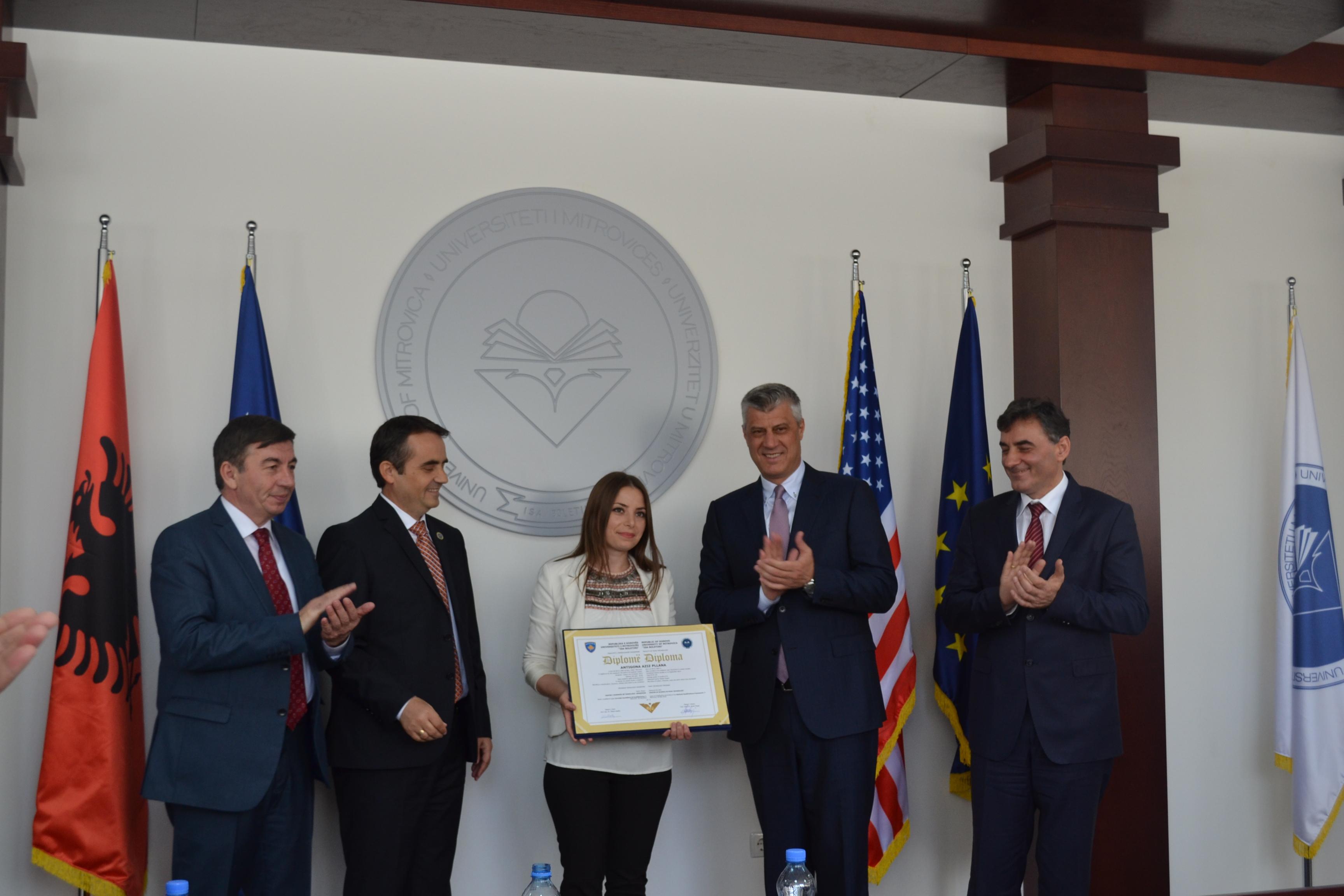 Presidenti Thaçi, Ndan Diplomën E Parë Në UMIB (maj 2016)