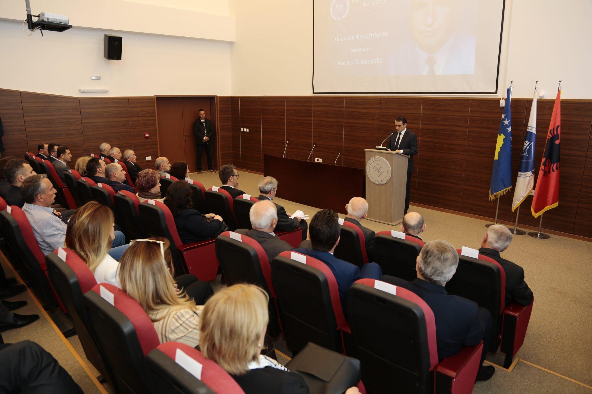 U Mbajt Akademia Përkujtimore Kushtuar Profesorit, Latif Berisha