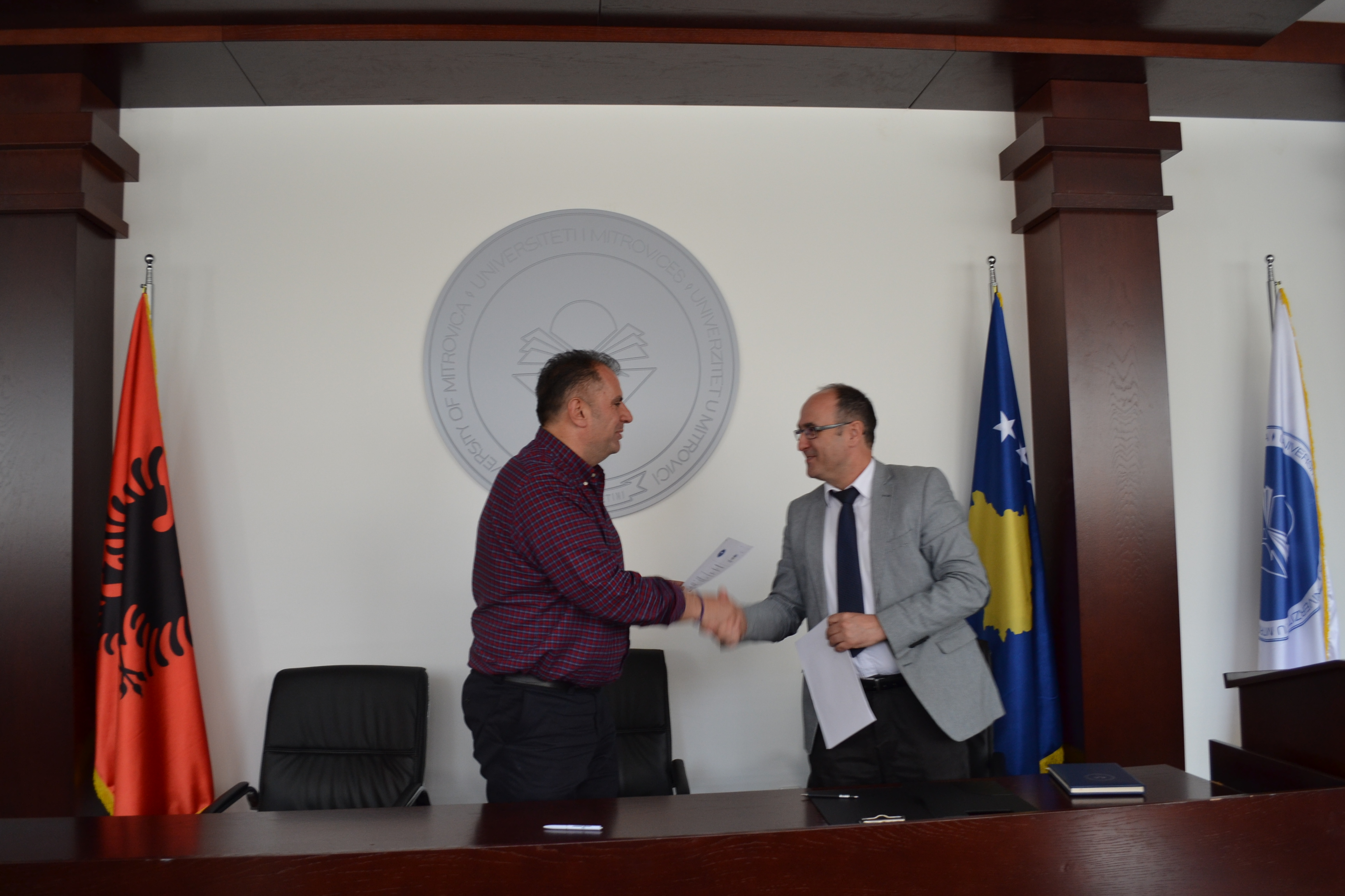 Prorektori Morina Dhe Kryetari Gërxhaliu