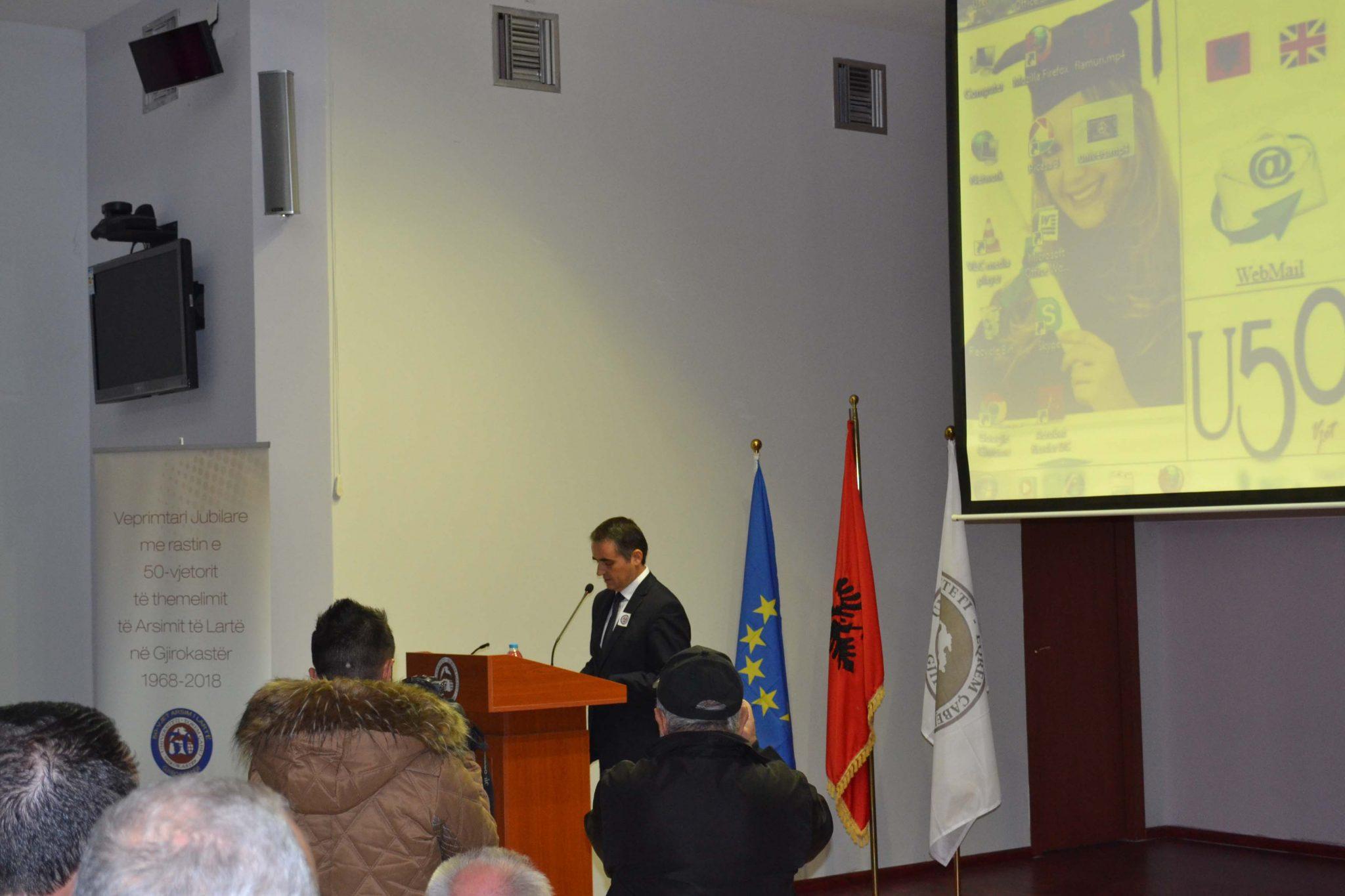 Rektori Musaj Në Universitetin E Gjirokastrës (dhjetor 2018)